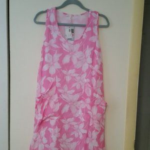NWT India Boutique midi pink floral